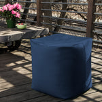 Luckie Outdoor Bean Bag Pouf in Navy - Soothing Company