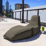 Prado Outdoor Bean Bag Chaise Lounge in Taupe - Soothing Company
