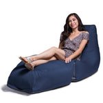 Prado Outdoor Bean Bag Chaise Lounge in Navy  - Soothing Company