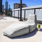 Prado Outdoor Bean Bag Chaise Lounge in Pearl - Soothing Company