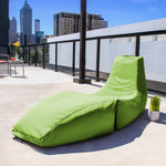 Prado Outdoor Bean Bag Chaise Lounge in Lime  - Soothing Company