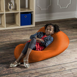 Nimbus Spandex Bean Bag Chair - Small in Orange - Soothing Company