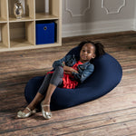 Nimbus Spandex Bean Bag Chair - Small in Navy - Soothing Company