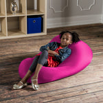 Nimbus Spandex Bean Bag Chair - Small in Hot Pink - Soothing Company