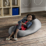 Nimbus Spandex Bean Bag Chair - Small in Silver - Soothing Company