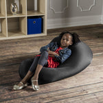 Nimbus Spandex Bean Bag Chair - Small in Black - Soothing Company