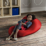 Nimbus Spandex Bean Bag Chair - Small in Cardinal - Soothing Company
