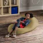 Nimbus Spandex Bean Bag Chair - Small in Durado Gold - Soothing Company