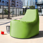 Avondale Outdoor Bean Bag Chair in Lime Stripe - Soothing Company