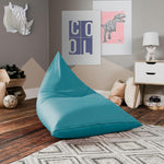 Jaxx Pivot Jr Kids Bean Bag Chair with Cotton Cover in Ocean - Soothing Company