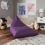 Jaxx Pivot Jr Kids Bean Bag Chair with Cotton Cover in Violet - Soothing Company