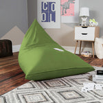 Jaxx Pivot Jr Kids Bean Bag Chair with Cotton Cover in Avocado - Soothing Company