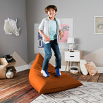 Jaxx Pivot Jr Kids Bean Bag Chair with Cotton Cover in Sunkiss - Soothing Company