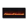 Amantii 50″ Electric Fireplace with Black Glass Surround - Soothing Company
