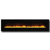 "Amantii 88"" WM/FM Series Electric Fireplace with Black Glass Surround - Soothing Company"