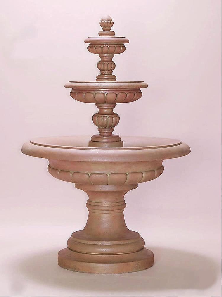 Via Roma Three Tier Outdoor Water Fountain - Soothing Company