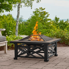 Larkspur Wood Burning Fire Pit - Soothing Company