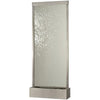 Grande Brushed Stainless Steel and Clear Glass Floor Fountain - Soothing Company