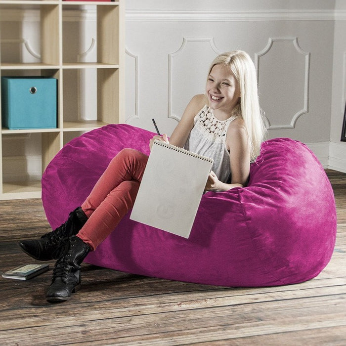 Lounger 4 Foot Bean Bag - Microsuede - Soothing Company