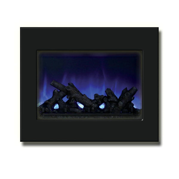 "Amantii 39"" Zero Clearance Electric Fireplace with Black Glass Surround - Soothing Company"