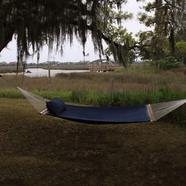 Large Soft Weave Hammock - Blue - Soothing Company