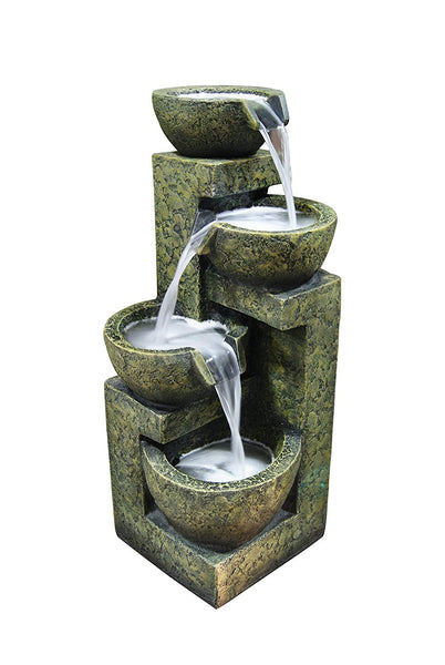 Three Tier Stone Bowl Tabletop Fountain - Soothing Company