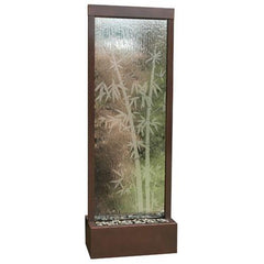 6' Gardenfall Etched Bamboo Floor Fountain with LED Lights - Soothing Company