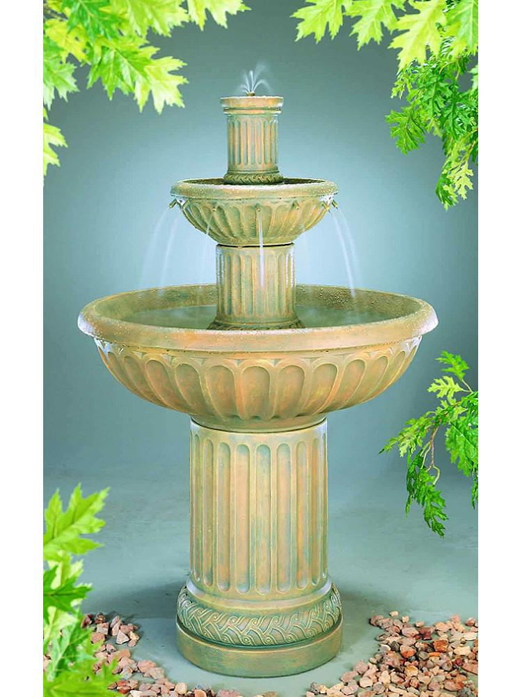 Fluted Garden Water Fountain - Soothing Company