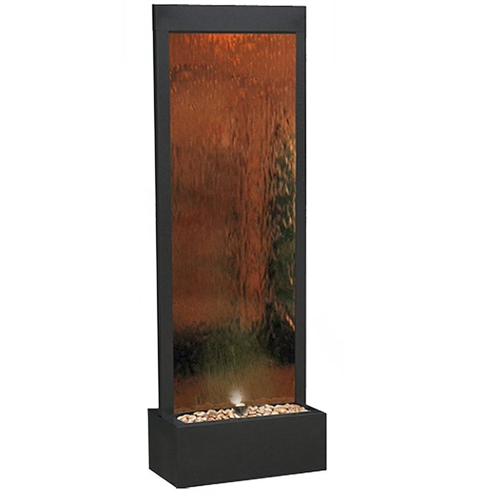 Alpine Mirror Waterfall With Decorative Stones And Light Silver  from cdn.shopify.com