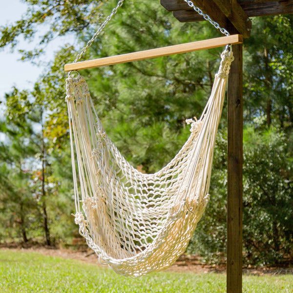 Single Cotton Rope Swing - Soothing Company