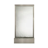 8' Grande Brushed Stainless Steel and Silver Mirror Floor Fountain - Soothing Company