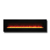"Amantii 72"" WM/FM Series Electric Fireplace with Black Glass Surround - Soothing Company"