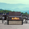 Fairplay Propane Fire Table in Gray Wood with NG Conversion - Soothing Company