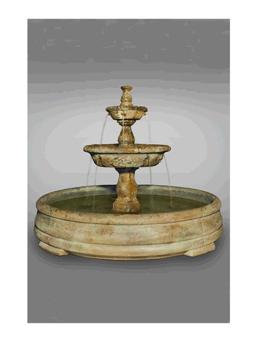 Tazza Tier Outdoor Water Fountain in Grando Pool - Soothing Company