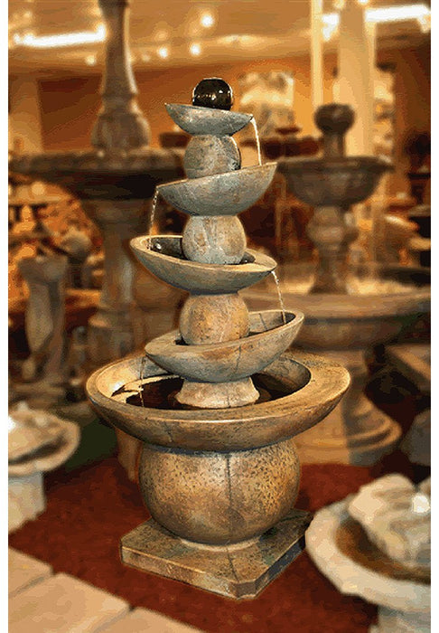 Equilibria Cast Stone Outdoor Fountain - Soothing Company