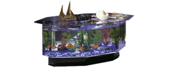 680 Stretched Octagon Aquarium Coffee Table - Soothing Company