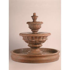 Roma Garden Fountain with 70 inch Basin - Soothing Walls