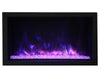 "Amantii 40"" Deep XT Indoor or Outdoor Built-in Electric Fireplace with Black Steel Surround - Soothing Company"
