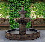 Fluted Garden Water Fountain in Valencia Pool - Soothing Company