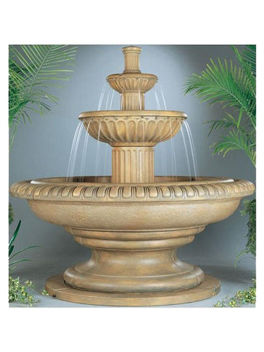 Palazzo Fluted Outdoor Water Fountain - Soothing Company