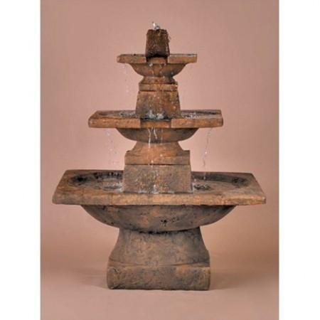 3-Tier Quadrate Outdoor Fountain