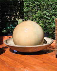 Ball and Wok Outdoor Fountain - Soothing Walls