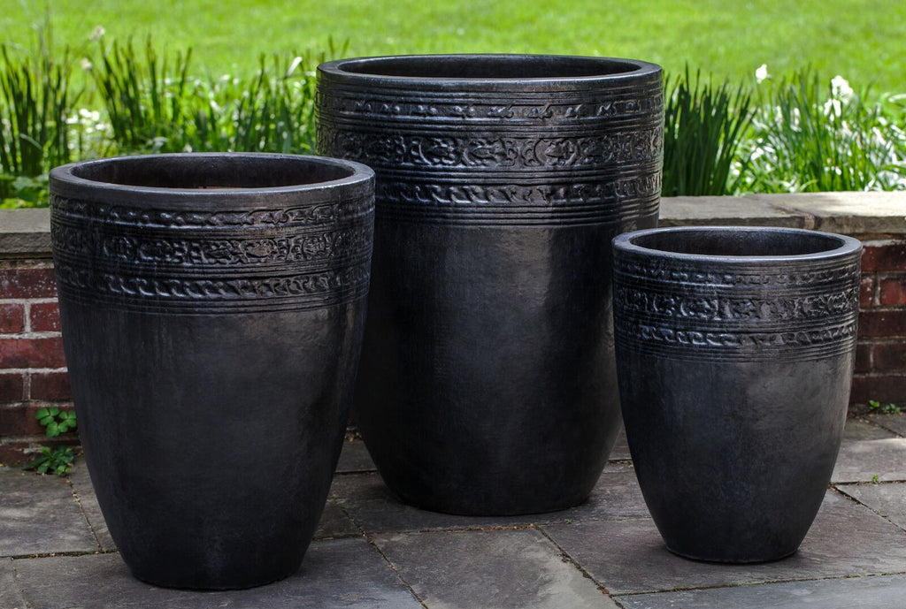 Sari Planter - Set of 3 in Graphite - Soothing Company