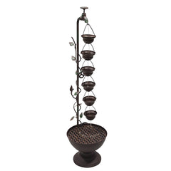 "38"" Hanging 6-Cup Tiered Floor Fountain - Soothing Company"