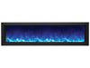 "Amantii 60"" Deep Indoor or Outdoor Built-in Electric Fireplace with Black Steel Surround - Soothing Company"