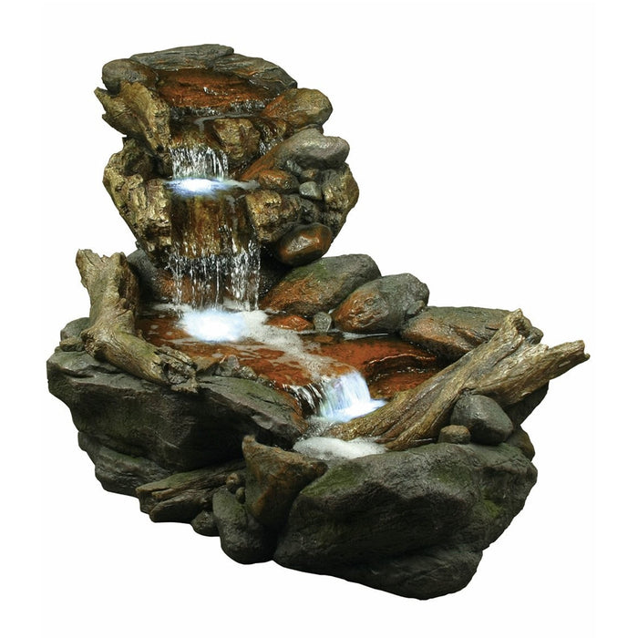 3 Tier River Fountain With LED Lights - Soothing Company