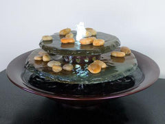 Water Wonders Tranquility Pool Tabletop Fountain Dark Copper Finish - Soothing Company