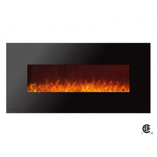 "50"" Royal Wall Mount Electric Fireplace with Crystals - Soothing Company"