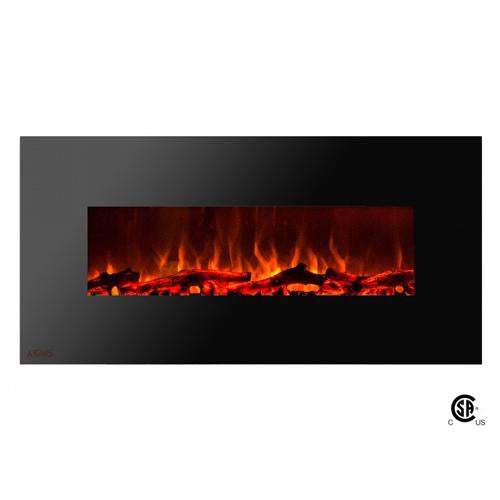 "50"" Royal Wall Mount Electric Fireplace with Logs - Soothing Company"