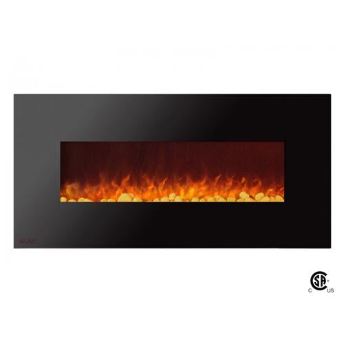 "50"" Royal Wall Mount Electric Fireplace with Pebbles - Soothing Company"